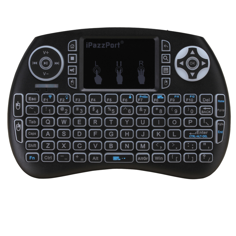21SDL-RGB iPazzPort multimedia keyboard with touchpad