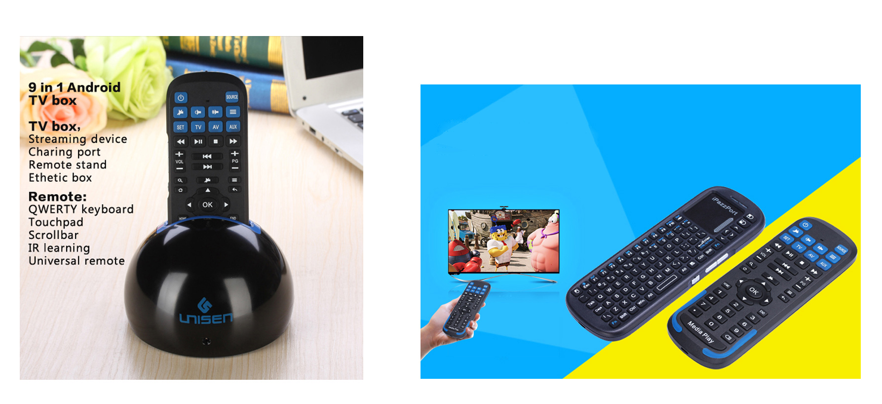 blog20-19RS Android TV box and USB media keyboard with IR function