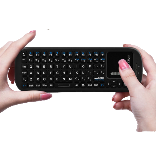 19S  wireless handled keyboard with touchpad