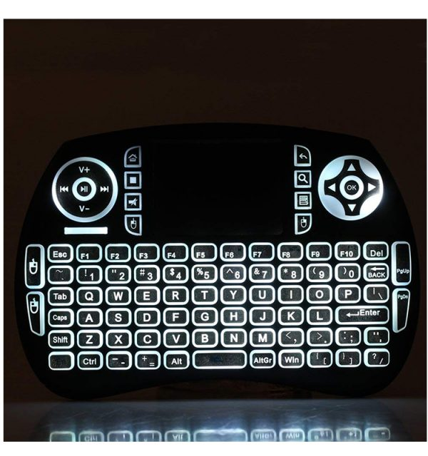 21BTL mini backlit bluetooth keyboard with touchpad