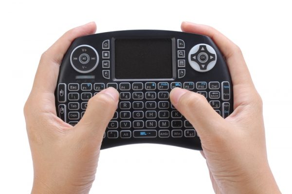 Wireless backlit Bluetooth keyboard with touchpad mouse