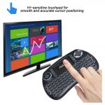 Wireless clear backlit multifunction keyboard with touchpad mouse