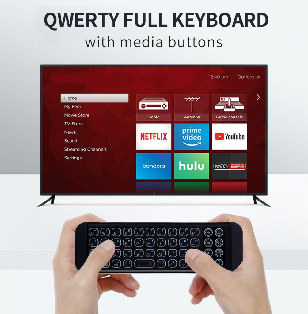 mini backlit bluetooth keyboard for firestick