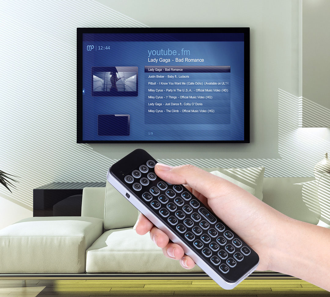 iPazzPort backlit Bluetooth QWERTY keyboard with case and IR