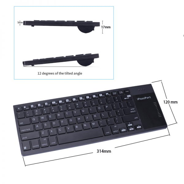 35BTT iPazzPort RGB bluetooth touchpad keyboard for iPad