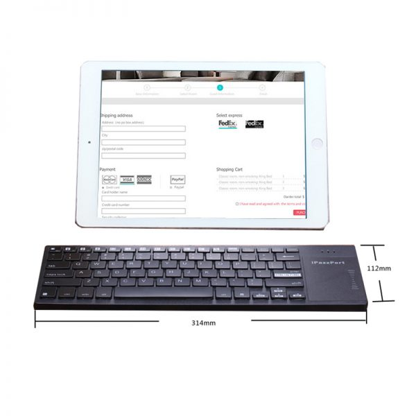 35H rgb multimedia touchpad keyboard