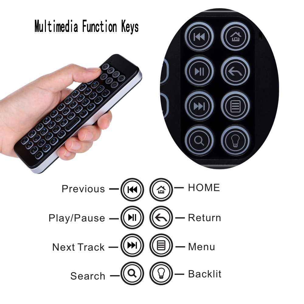 backlit mini bluetooth keyboard for Firestick