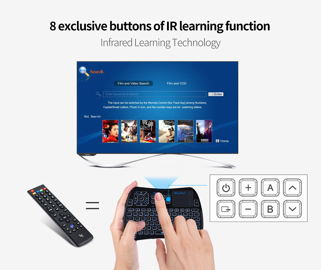 61 mini infrared touchpad keyboard