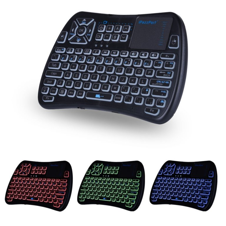 IR /RF backlit touchpad keyboard