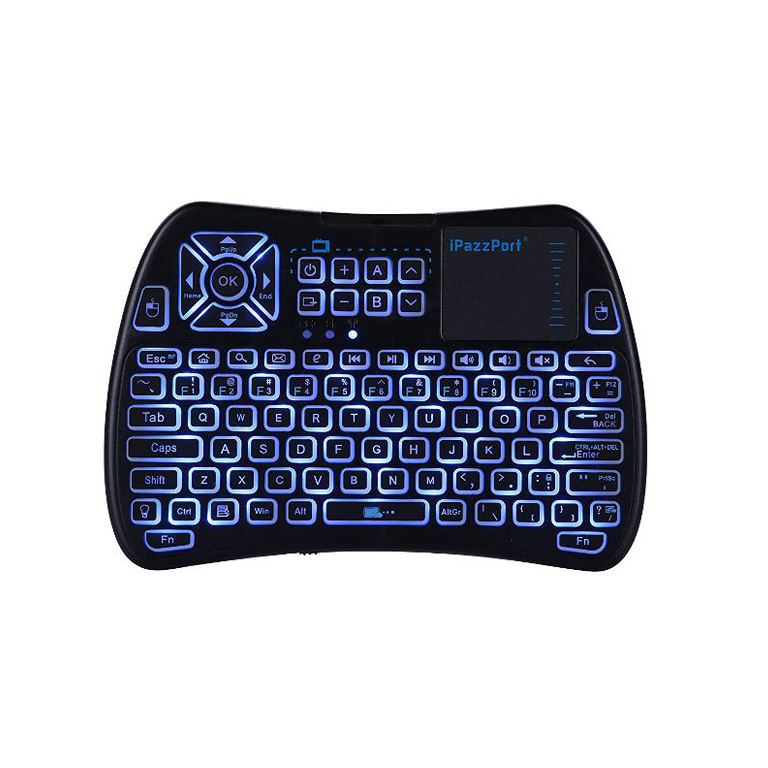 RGB backlit USB infrared keyboard with touchpad