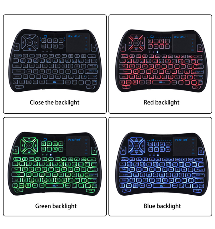 backlit bluetooth keyboard with touchpad