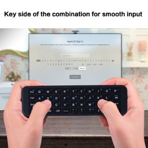 56S iPazzPort bluetooth keyboard with back case for Apple TV box 4th
