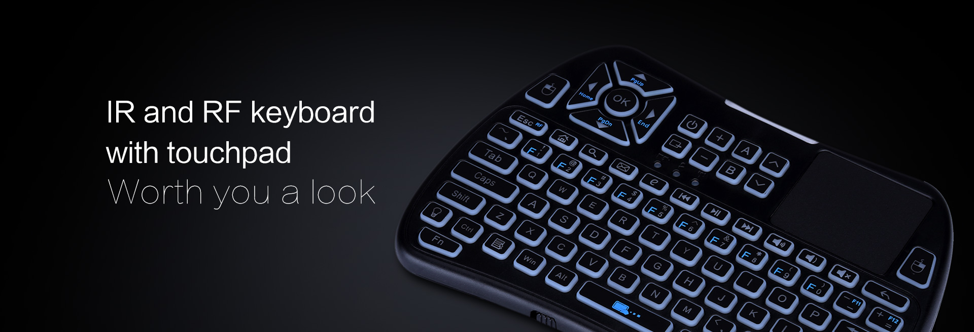 iPazzPort IR USB touchpad keyboard
