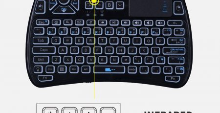 ir keyboard with touchpad
