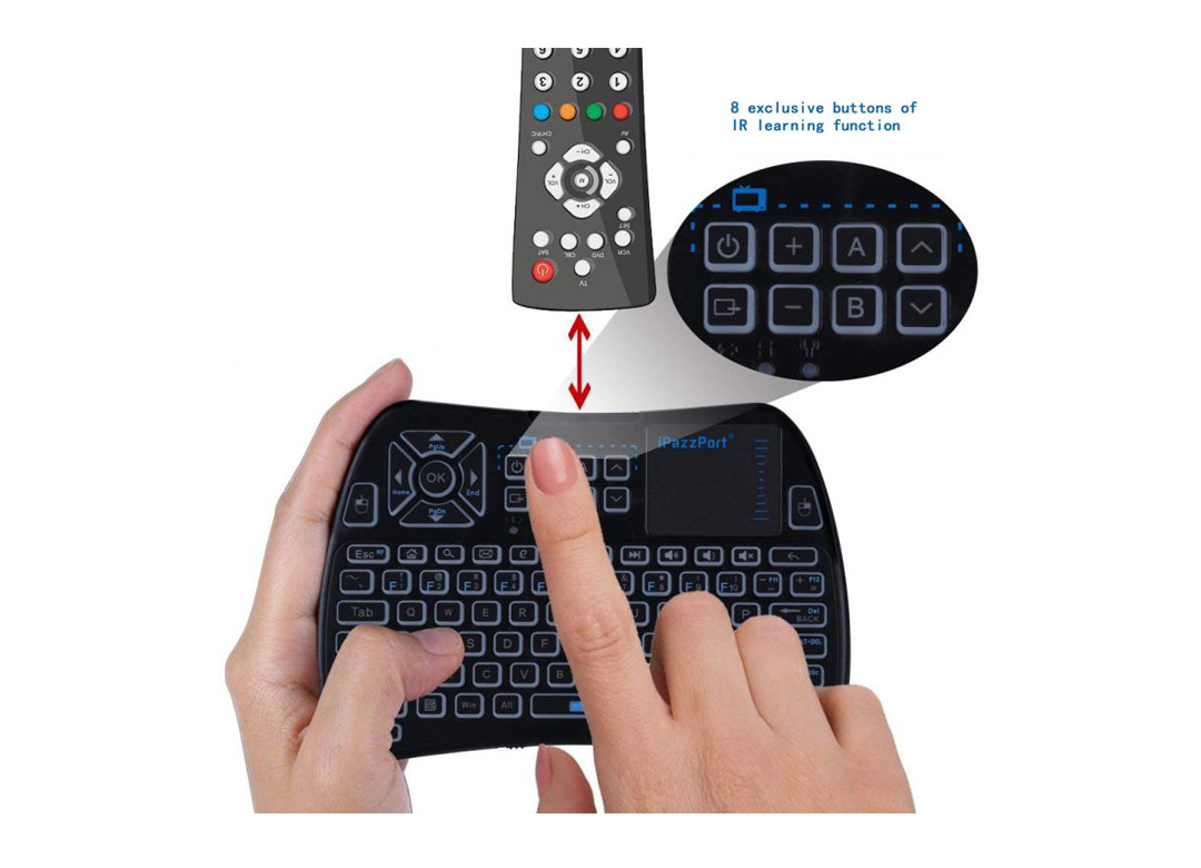 ipazzport infrared touchpad keyboard