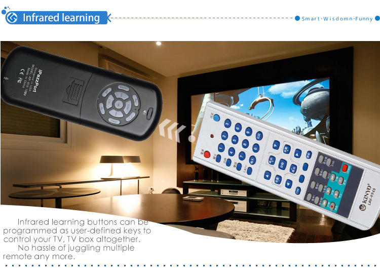 bluetooth infrared learning buttons air mouse keyboard