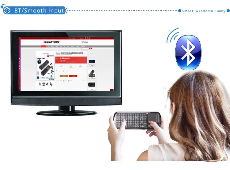 bluetooth fly mouse keyboard with touchpad