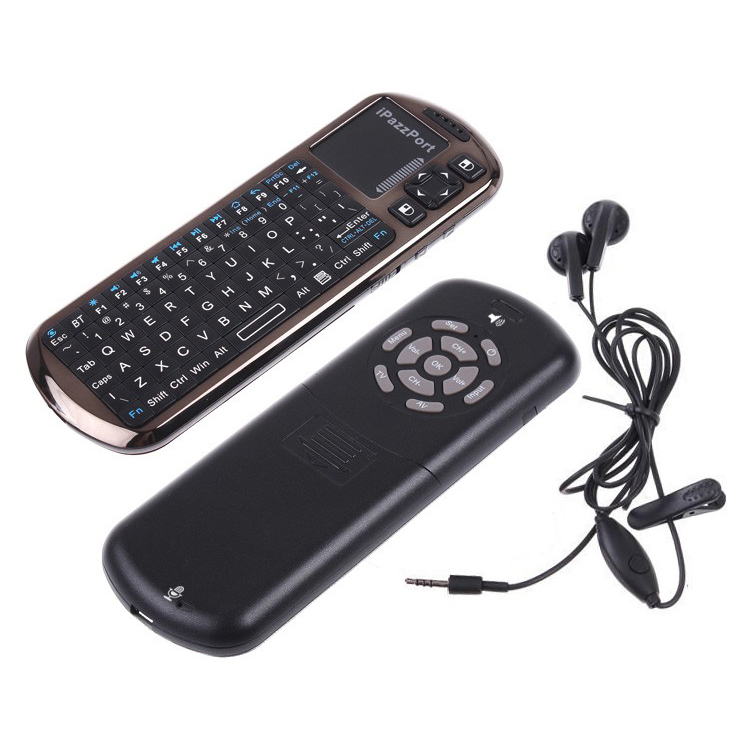 18BV bluetooth keyboard with touchpad and ir buttons
