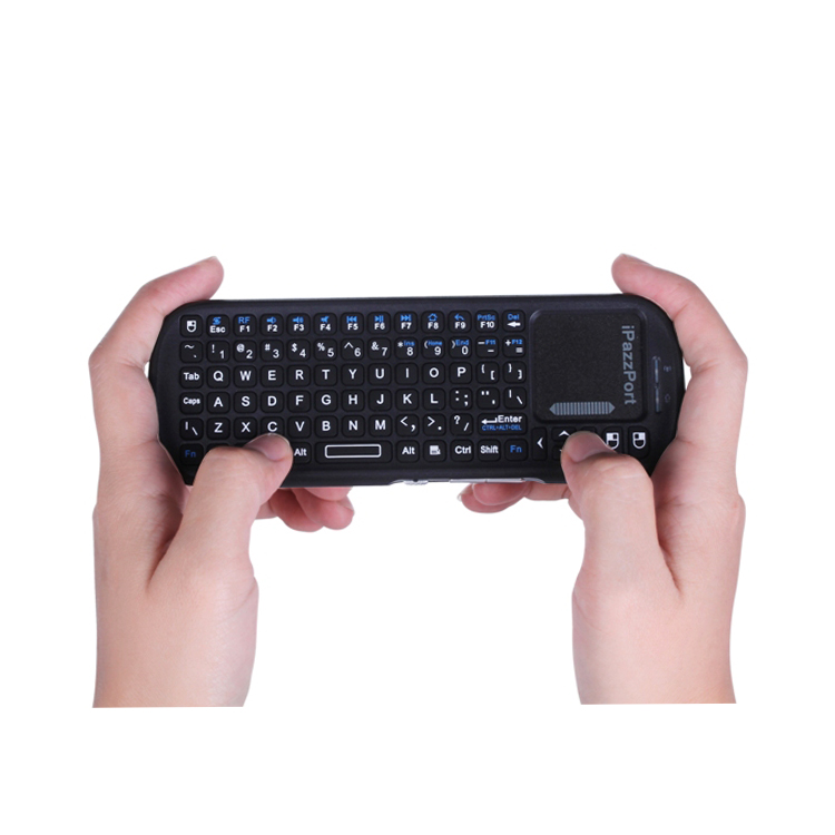 handled bluetooth mini keyboard with touchpad