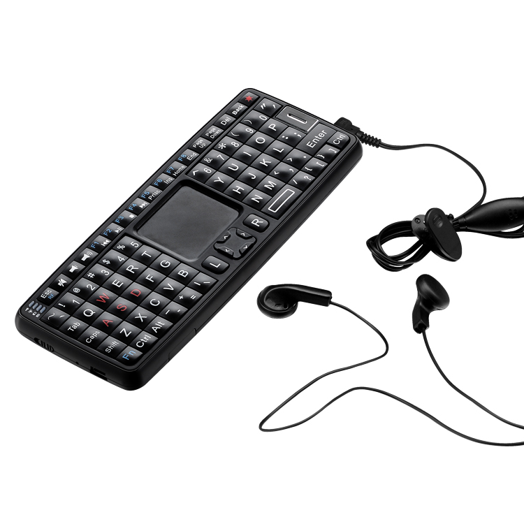Voice keyboard with touchpad