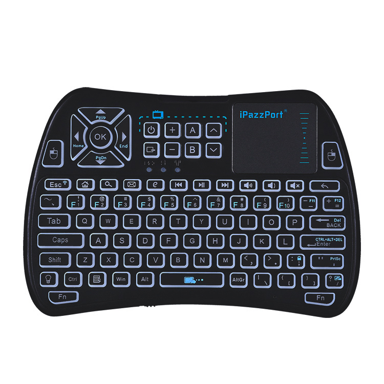 mini keyboard with touchpad and ir buttons
