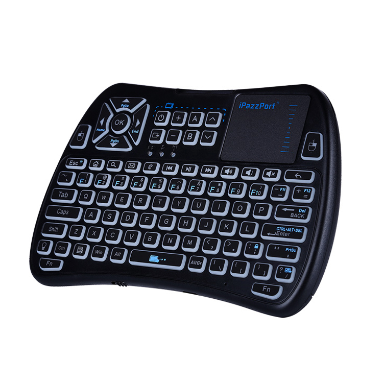 mini bluetooth keyboard with touchpad and ir buttons
