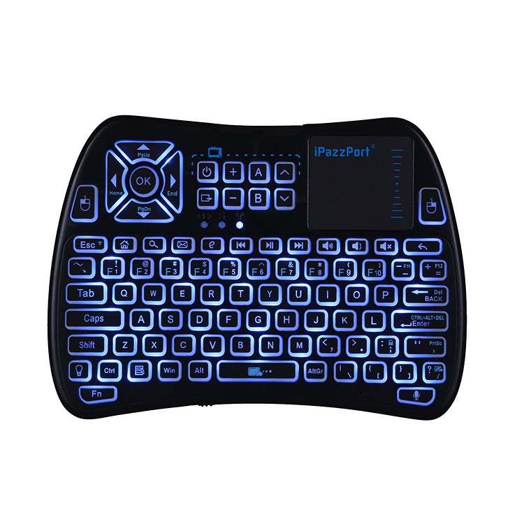 mini voice keyboard with touchpad and ir buttons
