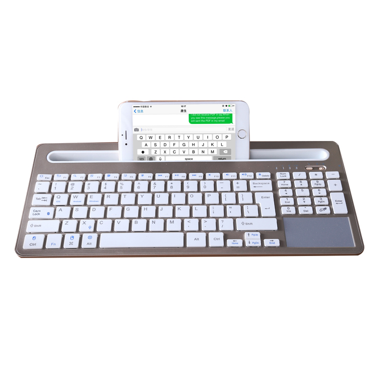 bluetooth keyboard with slot for iPad phone tablet