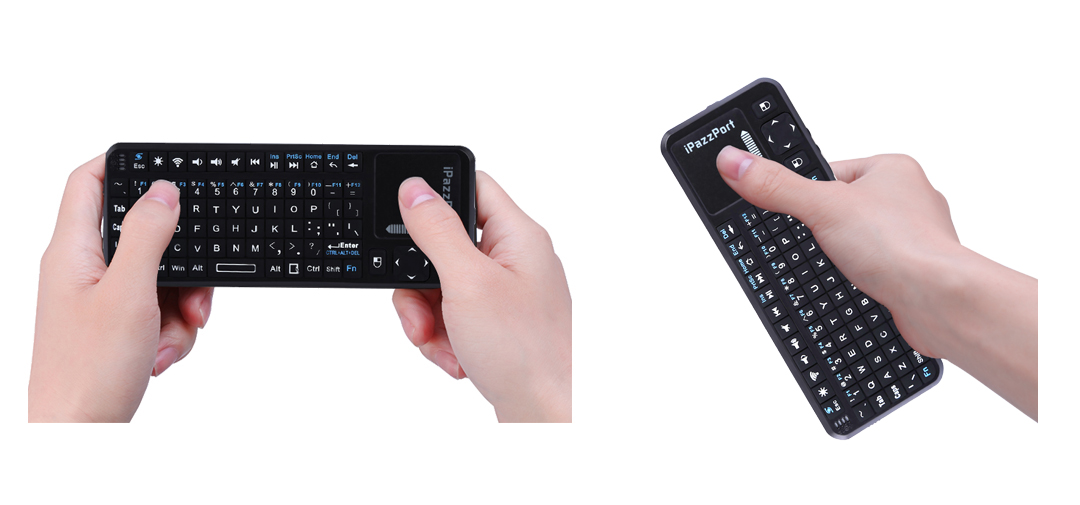mini keyboard with touchpad and laser pointer