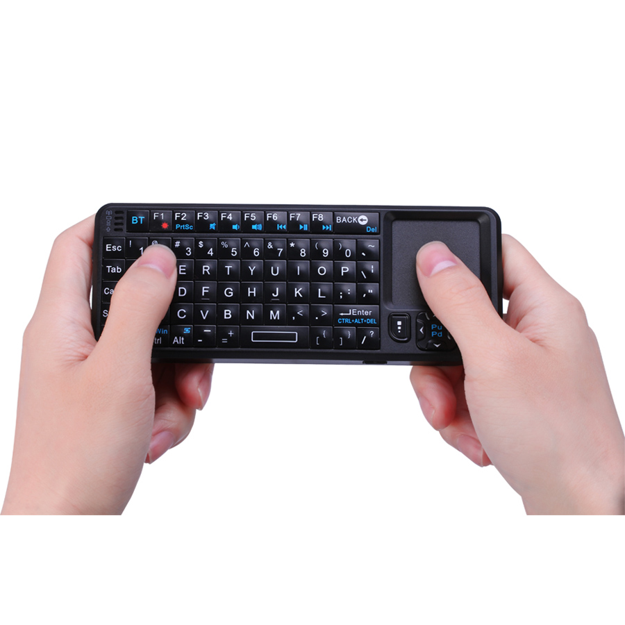 mini bluetooth keyboard with touchpad and laser pointer