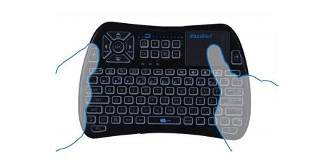keyboard with ouchpad