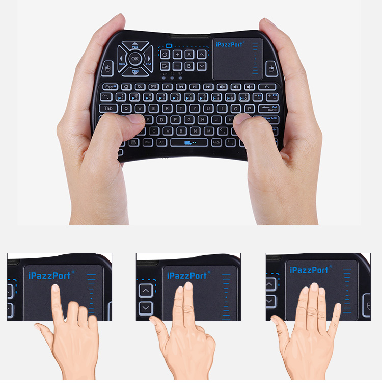 infrared keyboard with touchpad